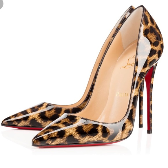 1c03e1b0f8df Christian Louboutin Shoes - Louboutin So Kate 120 Leopard Patent Pumps